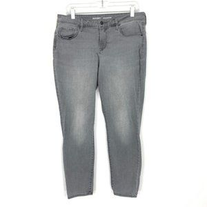 Old Navy Rockstar Mid-Rise Skinny Ankle Grey Jeans
